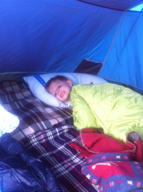 Bedtime in the tent