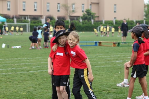"""I am so happy to do Sports Day with my best friend"""