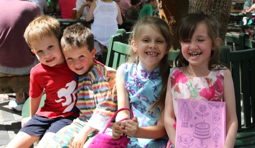 Happy Cousins: Oliver, Oscar, Isabelle and Maeve
