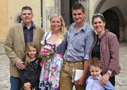 Just Married (first time!)  In Regensberg with Steffi and Heiko.