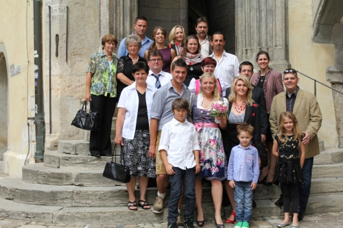 Immediate family (plus us) after the ceremony.