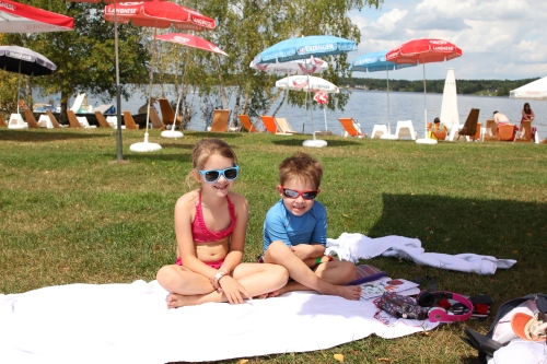 """Enjoying the Moving Ground at the """"Am See"""" part of Steinberg!  Fantastic things to do for the kids - big and small."""