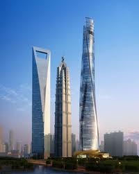 "The Shanghai World Financial Center aka ""The Bottle Opener"", the Jin Mao Tower and The Shanghai Tower - new skyline of downtown."
