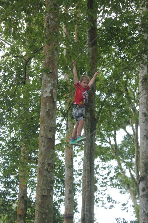 Oliver climbing like a monkey!
