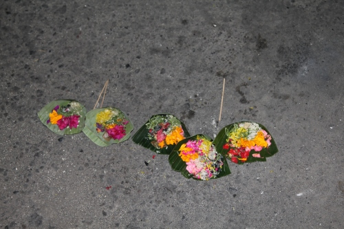 One of the hundreds of offerings that we saw around Bali.