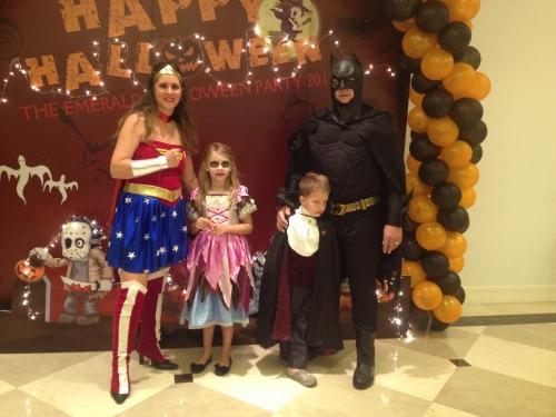 Wonder Woman, Bride of Dracula, Count Dracula and Batman.