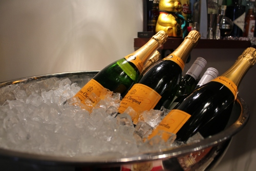 Champagne ready on ice!