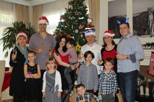 "Our Christmas Day ""Emerald Family"" Jane, Rob, Jen, Kevin, Sara & Owen Isabelle, Amelie, Theo, Joseph, Freddie & Oliver"