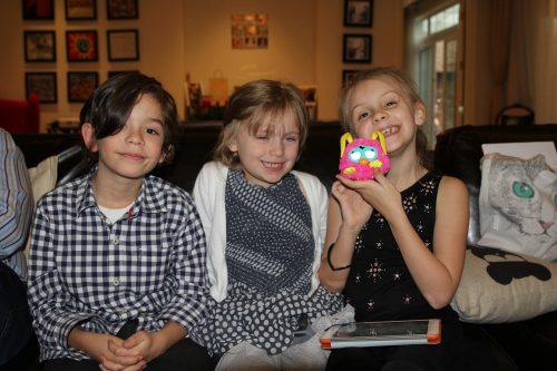 Freddie, Amelie and Isabelle (with her new mini Furby who talks non-stop!)