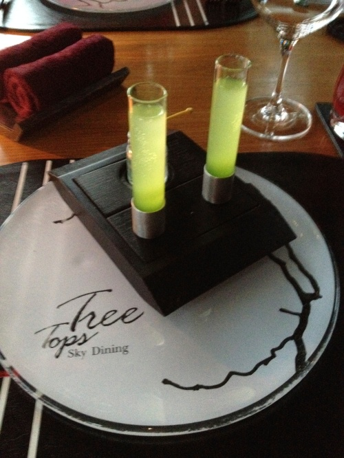 "Our Tree Tops ""welcome"" drink"