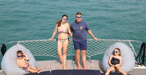 A lovely family shot.  A very enjoyable day on this fabulous boat.