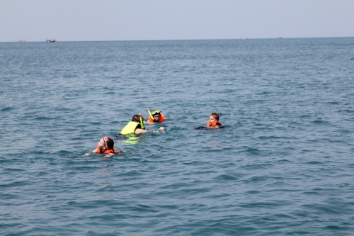 All 4 of us snorkeling.