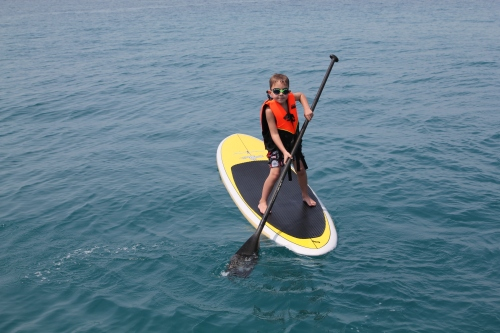 Oliver doing very well on the Paddle Board and even managing to paddle!!