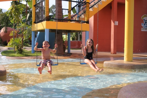The water swings were fun.
