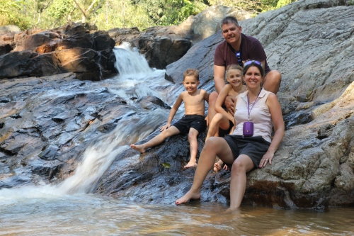 I love this family shot as the water appears to be caught in motion behind us.