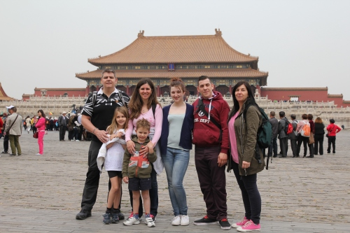 All of us with the Hall of Supreme Harmony in the background.