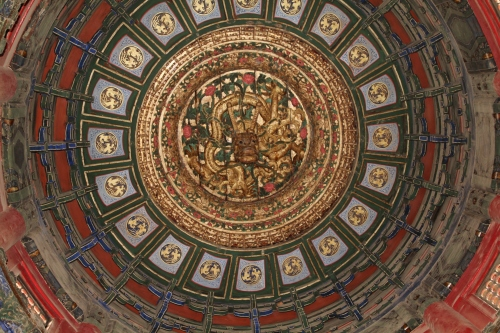 So much detail everywhere.  This is the domed ceiling in one of the halls.