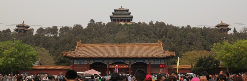 A great view of the Drum and Bell Towers that are the outer edges of the Forbidden City.