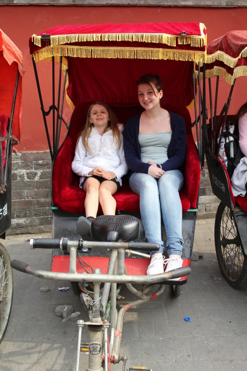 Isabelle & Harley sharing a Rickshaw
