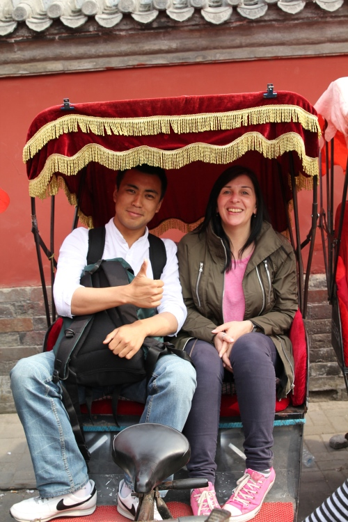 Jeff & Kim ready for our Rickshaw tour around the Hutongs.