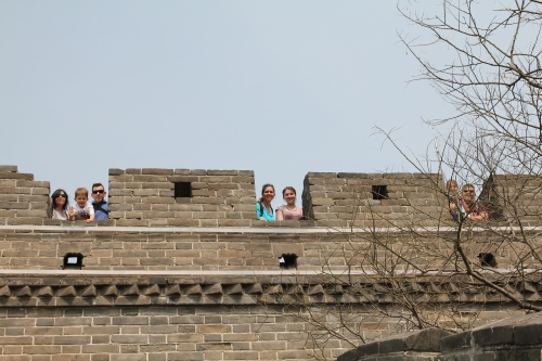 Jeff took a photo of all of us at the top of a Watch Tower.