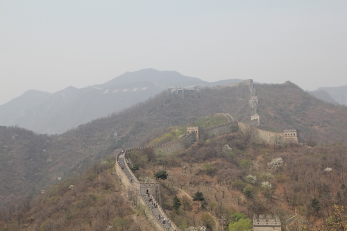 We were lucky with the weather.  It was actually a warm sunny day.  Smog was relatively low - even so, you can see the haze.