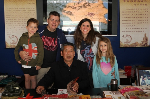 All of us meeting Mr Yang who discovered the Warriors.  We got his autograph too!  What an honour.