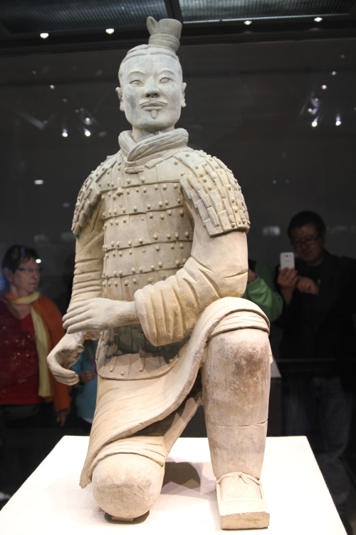 The kneeling archer.  Even the soles of his shoes are incredibly detailed.
