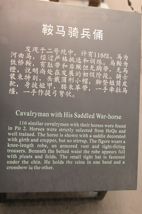 Information about the Cavalryman and Horse.