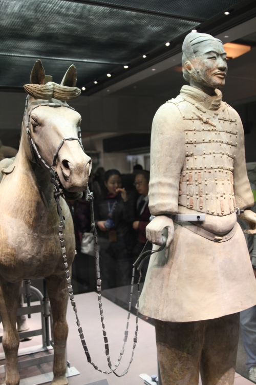 A Cavalryman with his horse.