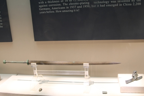 """A Chrome plated weapon.  This technology was not """"re-invented"""" until the 20th century!!"""