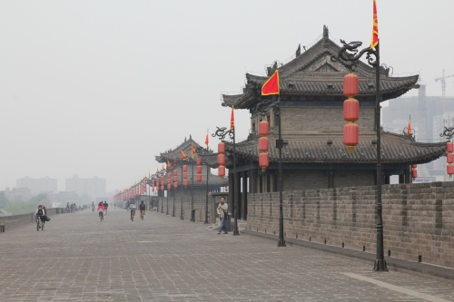 On top of the City Wall at Xi'an