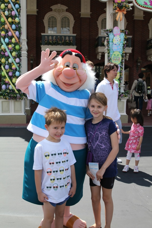 Getting a hug from Smee!
