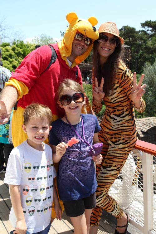 We met Winnie the Pooh and Tigger