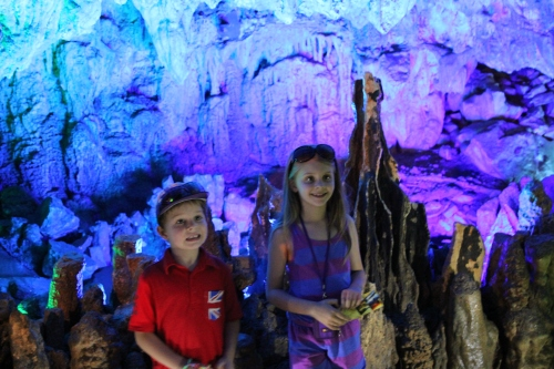 The kids loved the cave - it is huge and quite breathtaking.