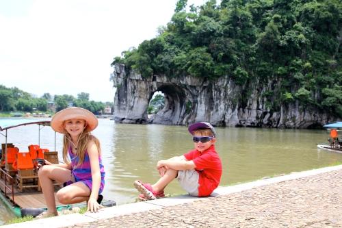 Kids by Elephant Trunk Hill