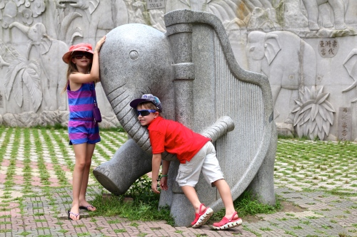 Hugging the elephants