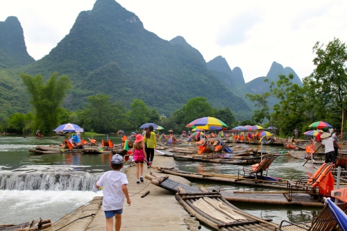 The start of the Bamboo River Raft ride
